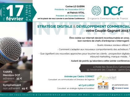 Conférence Stratégie Digitale et Développement commercial : votre couplé gagnant 2015